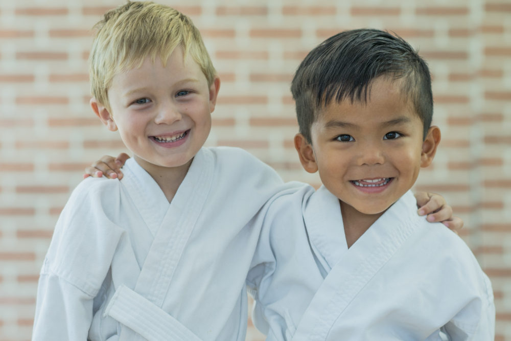 Friends doing martial arts in scarborough, pickering