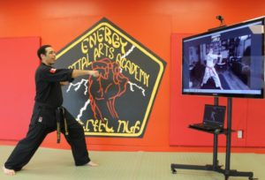 What an online Martial Arts class looks like